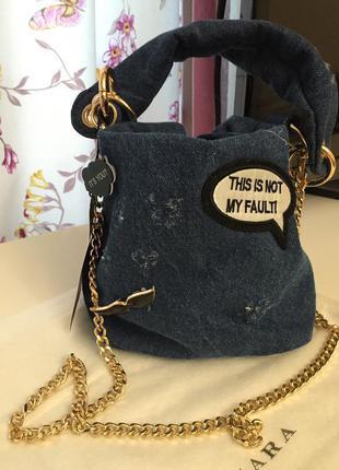 Джинсовая сумочка crossbody zara