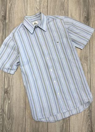 Летняя рубашка lacoste размер m - l. оригинал.