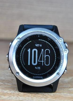 Часы garmin fenix 3 hr silver б/у с царапинками!
