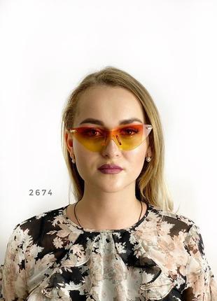 Стильні сонцезахисні окуляри без оправи к. 2674