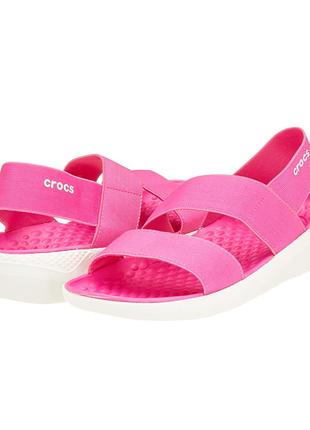 Сандали crocs women's literide sandal w5 j3 оригинал
