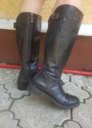 Крутые кожаные сапоги в ковбойском стиле италия
