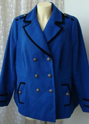 Пальто женское элегантное нарядное батал бренд south р.56 №4017