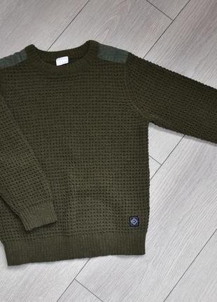 Вязанная кофта пуловер свитер крупная вязка на 6-7 лет f&f