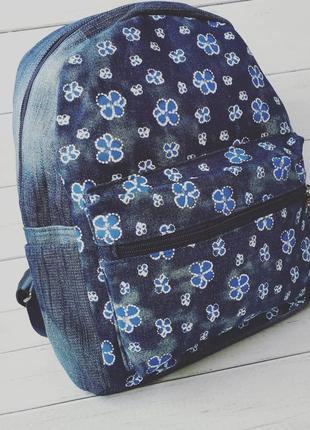 Красивый женский рюкзак джинсовый
