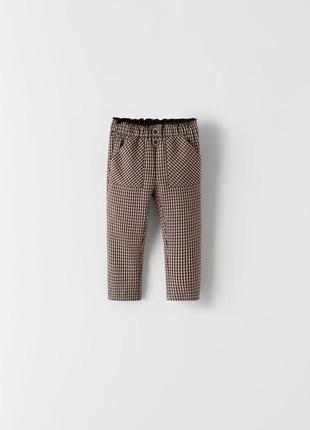 Брюки для дівчинки, брюки для девочки,штанишки в клеточку,штани в клітинку