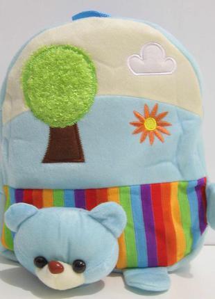"""Детский рюкзак """"зверята и дерево"""" (медвежонок) 16-12-004"""