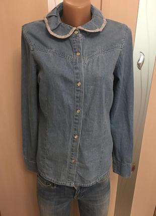 Джинсовая рубашка при покупки от 3х вещей доставка укр.почтй бесплатно.