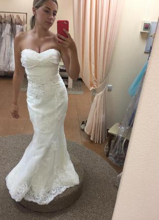 Новое белое свадебное платье