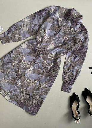 Роскошное шелковое платье рубашка миди 100% натур шелк pure silk
