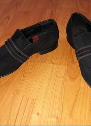 Замшевые мужские туфли 42 размера / замшеві чоловічі туфлі 42 розміру