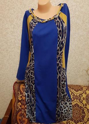 Платье с принтом 52р