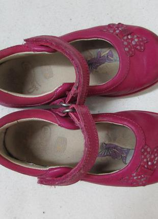 Туфли-мигалки на девочку 100% кожа~clarks ~р 25