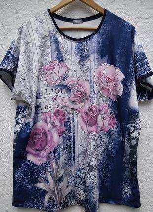 Шикарная нарядная футболка в розах zeki германия