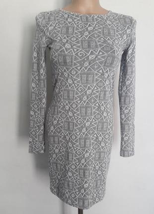Платье с длинным рукавов topshop