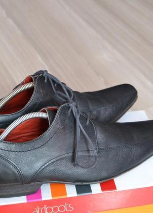Черные кожаные  модельные туфли next- bylbz - 40,41р. стелька-27,5см
