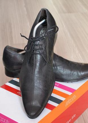 Шикарные мужские черные туфли topman р. 41,42 стелька 27,5-28см