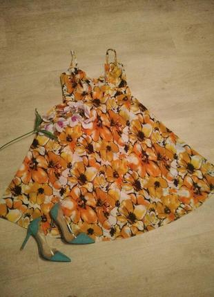 Супер сарафан миди  в цветочный принт