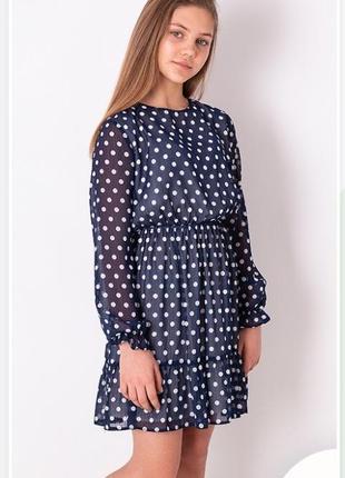 Платье в горох для девочек подростков размеры 146-164 тм mevis