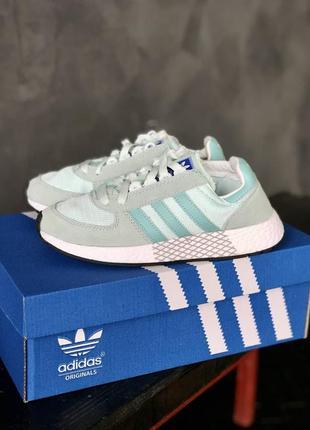 Женские кроссовки adidas marathon tech grey/mint