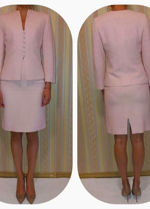 Элегантный деловой,офисный женский костюм, италия. р-р 38/s, manuela fumagalli