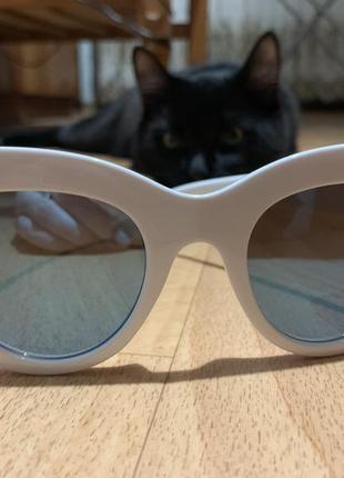 Солнцезащитные винтажные очки кошачий глаз