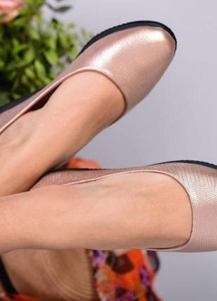 Женские весенние туфли-балетки