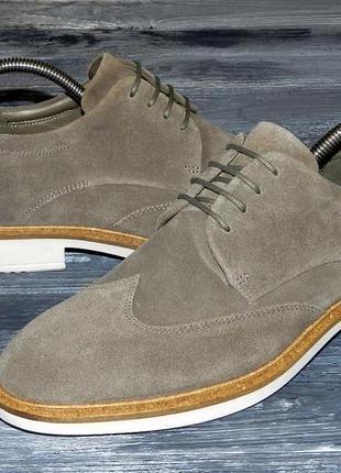 Мужские оригинальные, стильные, кожаные невероятно крутые туфли ecco vitrus