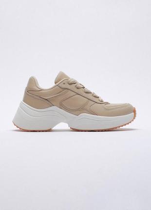 Кожаные кроссовки от zara оригинал новые 2021