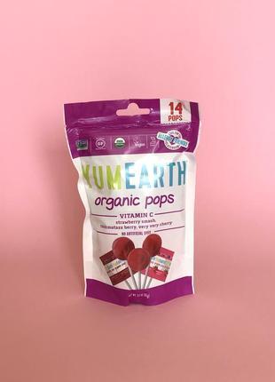 Льодяники органічні yum earth organic pops 14 шт