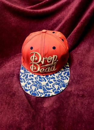 Картуз, кепка drop dead, шапка, головной убор, реперка, бейсболка