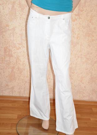 Белые коттоновые брюки madeleine, 46 -48 размер