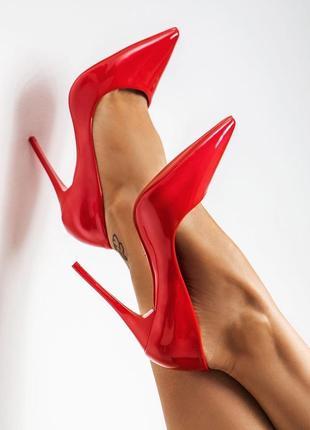 Идеальные красные туфли лодочки