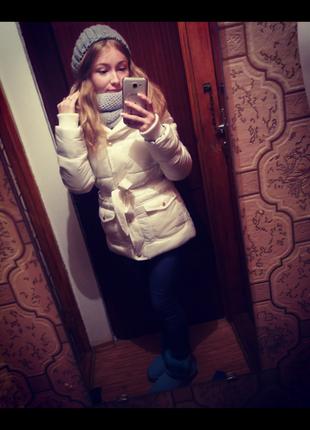 Біла курточка gloria jeans