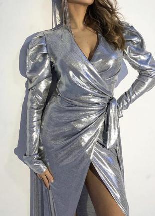 Шикарное длинное вечернее выпускное  платье s-m