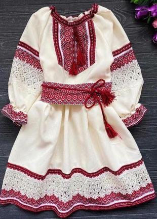 Детское платье вышиванка от 1 года до 11