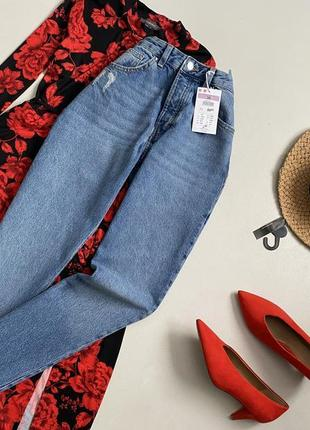 Новые обалденные джинсы мом с высокой посадкой sinsay5 фото