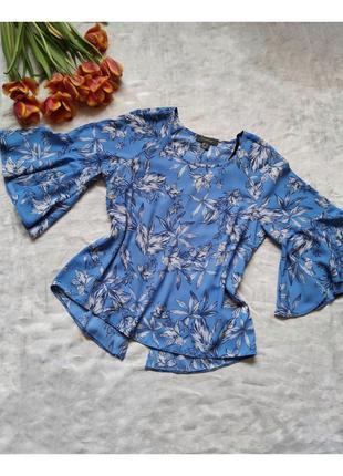 Воздушная блуза в цветочный принт с актуальными расклешенными рукавами  primark