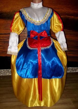Маскарадное платье белоснежки лет на 7-9