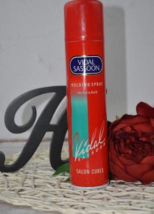 Лак для волос экстрасильной фиксации vidal sassoon salon curls holding spray