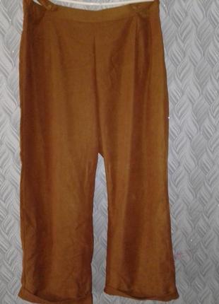 Вельветовые широкие штаны брюки большой размер