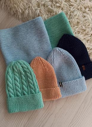 Комплекты шапка и снуд