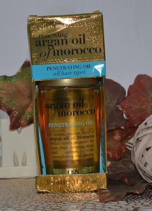 Аргановое масло для волос ogx argan oil of morocco penetrating oil 100 ml оригинал