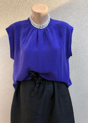 Шелковая блуза,рубаха,открытая спина,momoni,италия,премиум бренд