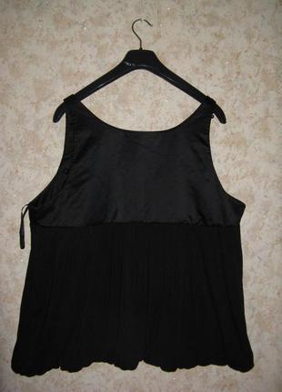 Блуза-туника inspire\топ\блузка\\ кожа паетки чёрная,большой размер ,батал