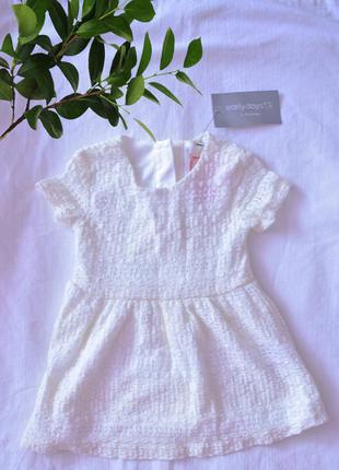 Белое летнее платье на новорожденного early days