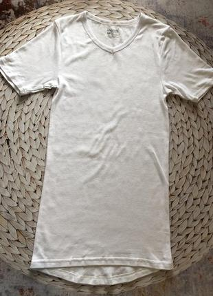 Удлинённая хлопковая футболка s