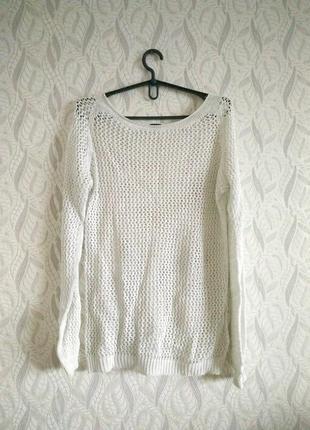 Folgore milano в'язаний біло-срібний светр