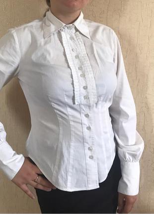 Белая блузка для девочек 10-11 клас