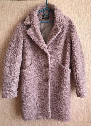 Пальто, пальто оверсайз, пудровое пальто